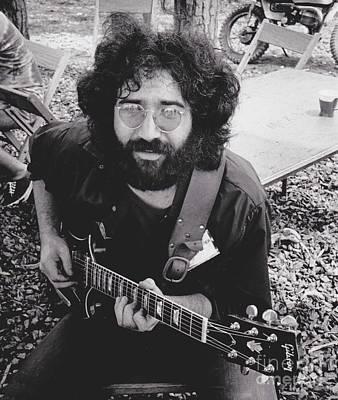 Vintage Jerry Garcia Print by Pd