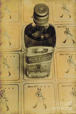 Blend Photograph - Vintage Johnnie Walker Advert by Jorgo Photography - Wall Art Gallery