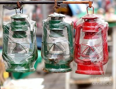 Vintage Kerosene Lanterns For Sale Print by Yali Shi