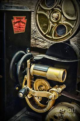8mm Photograph - Vintage Keystone Movie Projector by Paul Ward