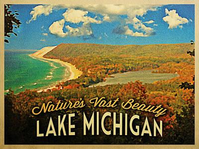Chicago Digital Art - Vintage Lake Michigan by Flo Karp