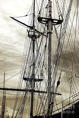 Vintage Mast Print by John Rizzuto