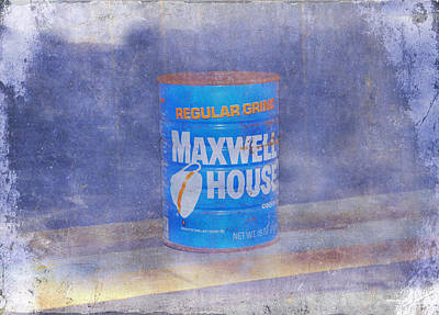 Grind House Photograph - Vintage Maxwell House Regular Grind  by Bill Cannon