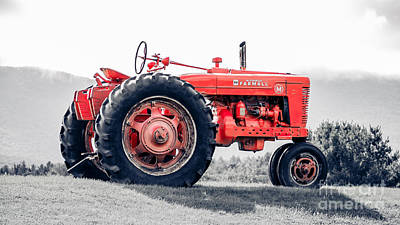 Tracktor Photograph - Vintage Mccormick Farmall Tractor by Edward Fielding