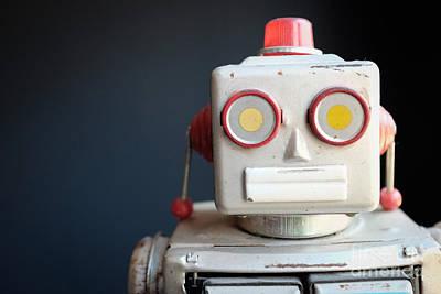Vintage Mechanical Robot Toy Print by Edward Fielding