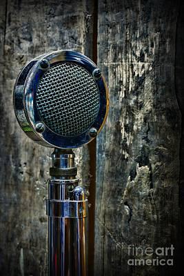 Vintage Microphone Print by Paul Ward