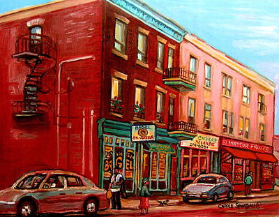 Judaica Painting - Vintage Montreal by Carole Spandau