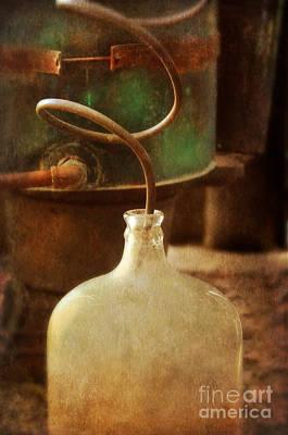 Vintage Moonshine Still Print by Jill Battaglia