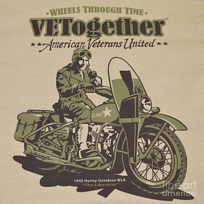Vintage Motorcycle Poster Print by Pd