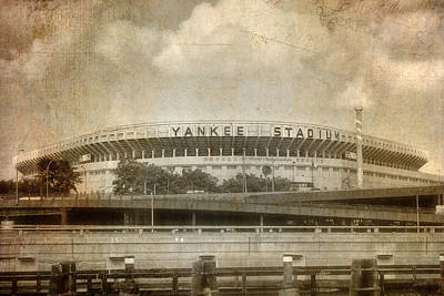 Old Yankee Photograph - Vintage Old Yankee Stadium by Joann Vitali