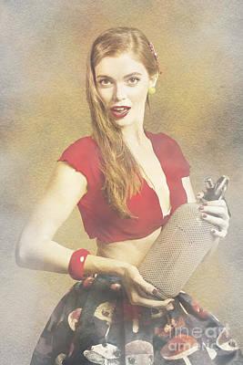 Pin Up Nose Art Photograph - Vintage Perfume Advertisement Circa 2015 by Jorgo Photography - Wall Art Gallery