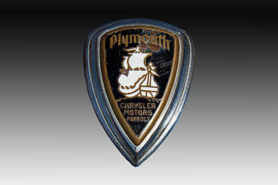 Mascot In Chrome Photograph - Vintage Plymouth Car Emblem by Nick Gray
