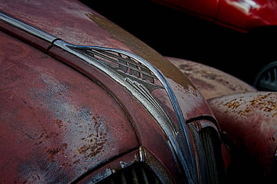 Mascot In Chrome Photograph - Vintage Plymouth Hood Ornament by Nick Gray