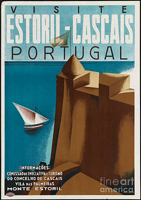 George Pedro Art Photograph - Vintage Portugal Travel Poster by George Pedro