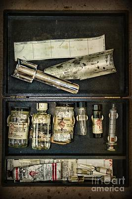 Vintage Post Mortem Fingerprint Kit Print by Paul Ward