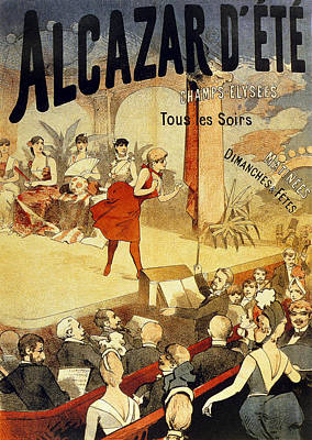 Vintage Poster For Cabaret Alcazar Print by French School
