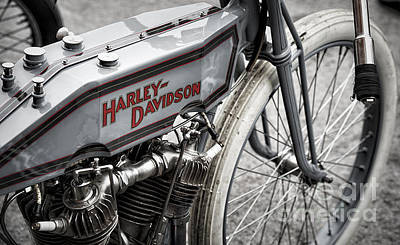 Broad Photograph - Vintage Racing Harley by Tim Gainey