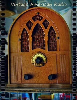 Companion Digital Art - Vintage Cathedral Radio by ARTography by Pamela Smale Williams