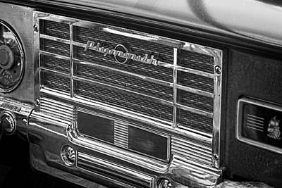 Vintage Radio B And W Print by Nick Gray