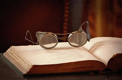 Metallic Sheets Photograph - Vintage Reading Glasses  by Maria Angelica Maira