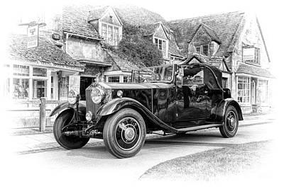 Vintage Rolls Royce  Print by Tim Gainey