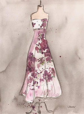 Vintage Romance Dress Print by Lauren Maurer