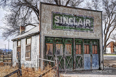 Vintage Rural Gas Station - Elberta Utah Print by Gary Whitton