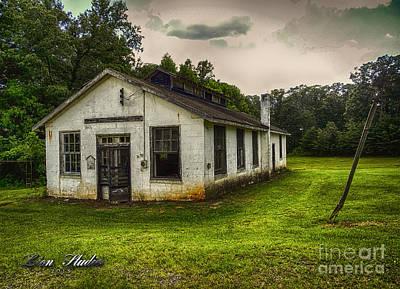 Old School Houses Digital Art - Vintage School House by Melissa Messick