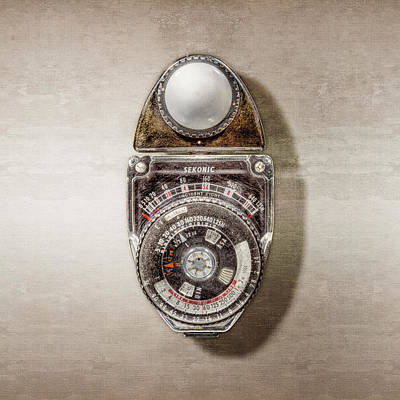 Film Camera Photograph - Vintage Sekonic Deluxe Light Meter by YoPedro