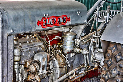 Vintage Silver King Tractor Print by Paul Ward