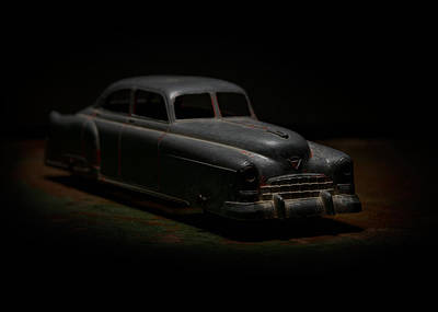 Gangsters Toy Photograph - Vintage Silver Toy Car by Art Whitton