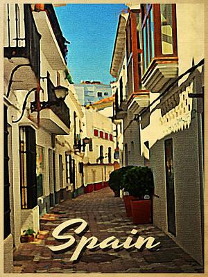 Vintage Spain Travel Print by Flo Karp