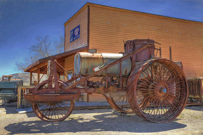 Steam Tractor Photograph - Vintage Steam Tractor by Donna Kennedy