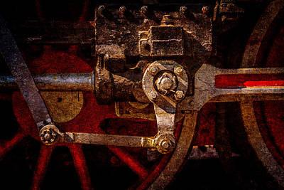 Vintage Steam Train Drives Print by Alexander Senin