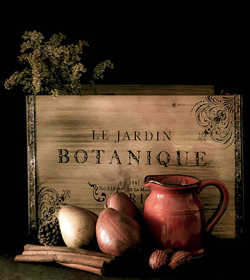 Vintage Still Life Food And Drink Print by Julie Palencia