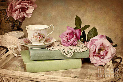 Vintage Tea Print by Cheryl Davis
