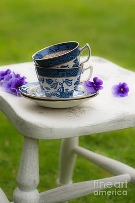 Vintage Teacups Print by Amanda And Christopher Elwell