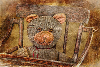 Teddie Photograph - Vintage Teddy by HH Photography of Florida
