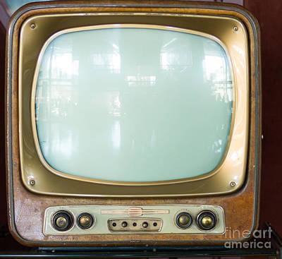 Vintage Television Print by Massimo Lama