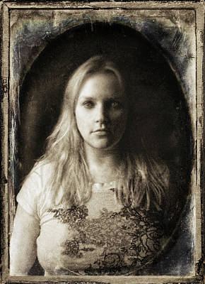Vintage Tintype Ir Self-portrait Print by Amber Flowers