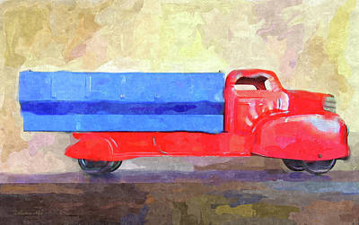 Truck Digital Art - Vintage Toy Truck by Dilectus Rex
