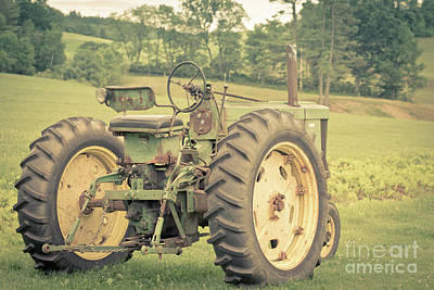 Photograph - Vintage Tractor Keene New Hampshire by Edward Fielding