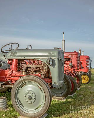 Vintage Tractors Prince Edward Island Print by Edward Fielding