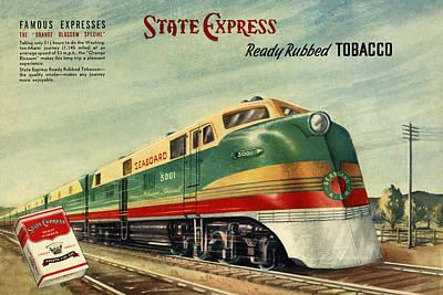 Cigarette Ads Photograph - Vintage Train 3 by Andrew Fare