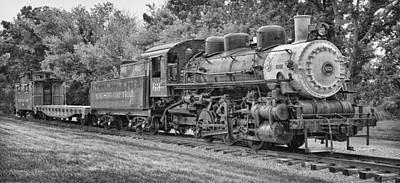 Caboose Photograph - Vintage Train by Brian Mollenkopf