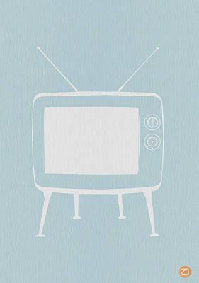Vintage Tv Poster Print by Naxart Studio