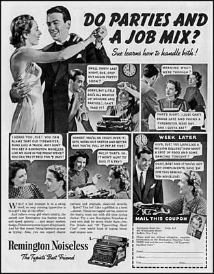 Vintage Typewriter Advertsement Original by John Malone