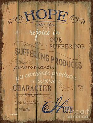 God Painting - Vintage Wtlb Hope by Debbie DeWitt