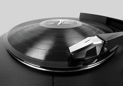 Disc Photograph - Vinyl Lp And Turntable by Jim Hughes