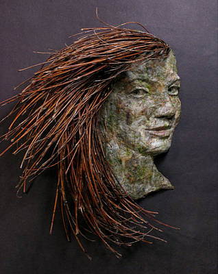 Violet A Relief Sculpture By Adam Long Print by Adam Long